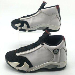 Nike Mens 9 Air Jordan 14 Retro Black Toe Basketba